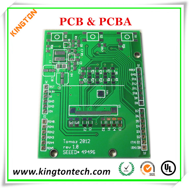 FR-4 pcb for display HASL