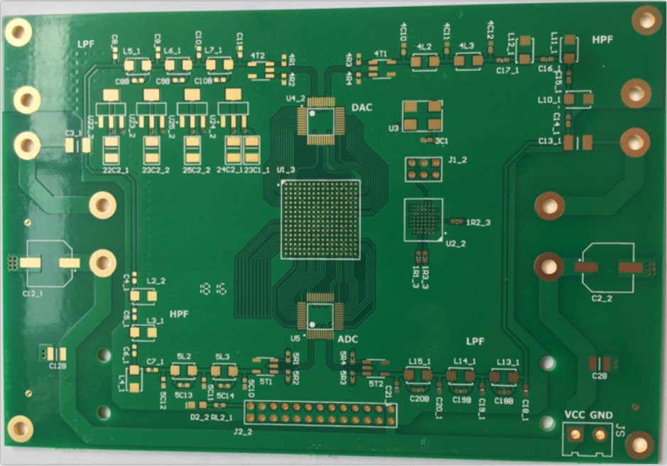 4-layer PCB with gold finger and BGA